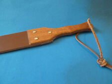 "Heavy LEATHER punishment strap 24""/27 x 2½"" with hardwood handle (cane)"