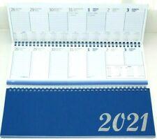 Tischkalender,Querkalender, 2021 ,1 Woche = 2 Seiten,Stundeneinteilung 7-18 Uhr