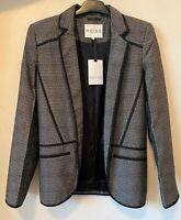 NEW REISS Ladies Textured Collared Jacket Blazer Formal Smart Work Gift BR211