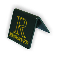 Black Reserved Table Signs Acrylic - Set Of 10. Reserved Signs. Table Signs.