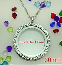 Living Memory Locket Pendant Necklace for Floating Charms - 30mm