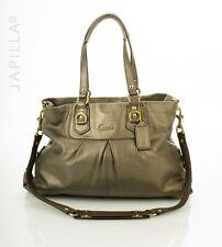 Coach Ashley metallic leather carryall Shoulder Bag purse F15512