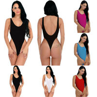 Women Sheer Lingerie Leotard Tops Bodysuit Thong Monokini Swimwear Beachwear New