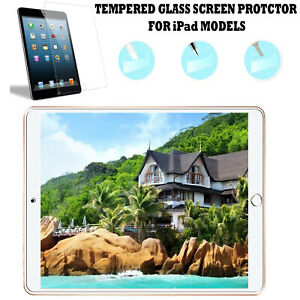 Tempered Glass Screen Protector HD Clear For Apple iPad 2/3/4 Air 2 mini 1/2/3