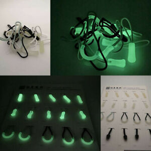 25X 3# Zipper Slider Head Pull Glow in the Dark DIY Repair Garment Bag Accessory