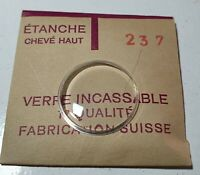 Verre de montre suisse bombé plexi diamètre 237 Watch crystal vintage *NOS*