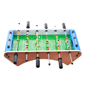 Wooden Table Top Soccer Game w/Footballs for Adults Arcades Family Night