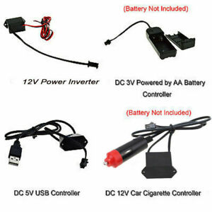 3V/5V/12V USB Controller for Led EL Wire Flexible Neon Decor Strip Light Lamp