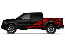 Vinyl Graphics Decal Wrap Kit fits 2010-2014 Ford F-150 RAPTOR SVT SHREDS Red