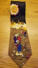 DISNEY Goofy Golf Mens Neck Tie 100% Polyester