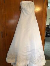 David's Bridal Michaelangelo Size 12 Wedding Dress Strapless Train w/Crinoline