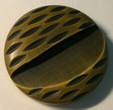 Vintage Olive Green Patterned Buttons