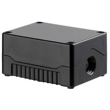 ABS Knockout Enclosure IP67 Black Base Black Cover 106x80x53mm Project Box Case