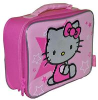 Sanrio HELLO KITTY School Kids Pink Insulated Soft Tote Lunch Bag Box NEW