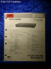 Sony Service Manual ST S101 Tuner (#0420)