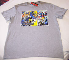 Transformers Comic Mens Grey Printed Short Sleeve T Shirt Size XS New