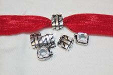 Set 5 for $1 silver Birthday Christmas present slide charm charms jewelry h108