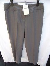 BNWT Ladies Sz 10 Smart Oak Marle Pinstripe Millers Brand Long Dress Pants