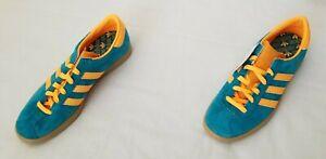 Men Sz 12 Teal Orange Adidas Stadt Originals Limited Edition Suede Leather Shoes