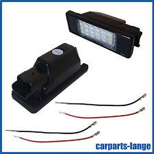 LED SET CITROEN PEUGEOT Kennzeichenbeleuchtung Kennzeichen Leuchte - TÜV FREI -