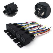 5Pcs 30/40A Automotive Waterproof Relay Switch Set 12V Car Spdt Harness Socket