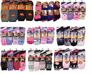Womens Mens Ladies Thermal Warm Winter Boot Socks Colour Black Chunk Thick Socks