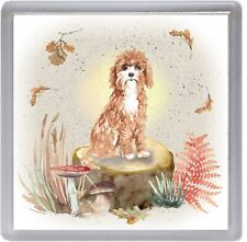 """Cavapoo / Doodle Dog Coaster """"Woodland Design"""" Quality Gift by Starprint"""