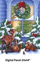 "Magic of Christmas Digital Print Panel Cotton Quilt fabric by Northcott 28x44"""