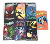Lot Of 7 DC Animated Movie VHS Tapes Batman Robin Spiderman WB Marvel Mix Tested