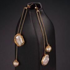 Original Hand Made Design 14KGF earrings White Freshwater Pearl AAA+