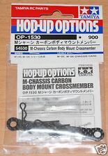 Tamiya 54530 M-Châssis Carbone Body Mount crossmember (M05/M05Ra/M06), Neuf sous emballage