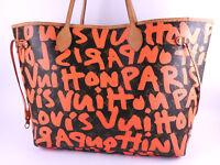 Auth LOUIS VUITTON Monogram Graffiti Neverfull GM Shoulder Tote Bag M93702 A8241