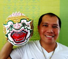 Hanuman Mask Khon Thai Handmade Ramayana headdress Home Decor Collectible Gift