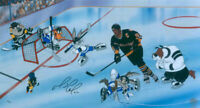 Warner Brothers-Goal, Lemieux! Limited Edition Cel Signed By Mario Lemieux