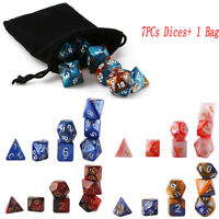 7PCs Dungeons & Dragons Dice Polyhedral Game Dice Two-Colors DND RPG D4-D20 HQ