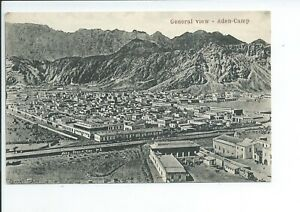 Printed postcard of a general view of Aden camp Aden Middle East good condition