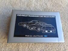 1983 1984 Chevrolet Passenger Car Value Guide Dealer Album Color Trim Camaro Vet