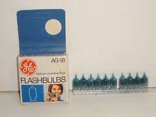 vintage camera flash GE AG-1B flashbulbs Box Of 10 made in USA