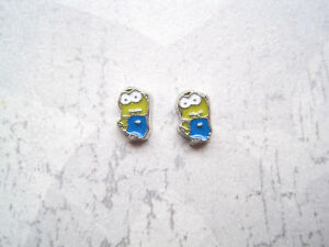 CUTE MINIONS or SNOOPY SP STUD EARRINGS Adults YELLOW BLUE Minion White Dog