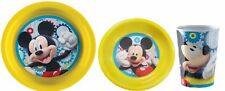 Mickey Mouse Melamine Mealtime 3 Piece Set Childrens Dinner Sets Bowl Plate Cup