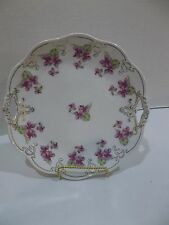Z S & Co Mignon Bavaria Floral And Embossed Scroll Collector Plate