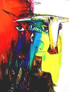 Music Orig oil painting Nguyen Bui Hien b1975 HIFAC 2001