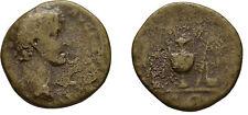 Ancient Rome MARCUS AURELIUS AD 140-144 Large SESTERTIUS PONTIFICATE SIMPULUM