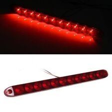 "Red 15"" Waterproof 11 LED Light Bar Stop Turn Tail 3rd brake Light Truck Trailer"