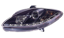 For Seat Leon 09-12 DRL Black Projector Headlights Lighting Lamp Replacement