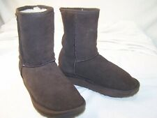 Women's EMU Australia Wool Lined Suede Stinger Lo Boots Chocolate 5.5 W-F5/M-H4