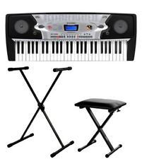 Numérique 54 touches Clavier E-Piano Piano 100 SONS & RYTHMES MIC STAND Bench Set