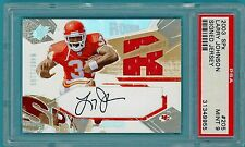 2003 SPX Larry Johnson Auto Issue 489/1100 #205 - PSA 9! Chiefs!
