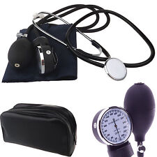 New Nylon Cuff Blood Pressure Monitor Manual Sphygmomanometer & Stethoscope Kit