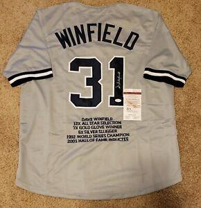 Dave Winfield Signed Custom Jersey New York Yankees JSA Witnessed COA